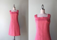 1960s dress / vintage 60s metallic pink cocktail by HolliePoint, $48.00