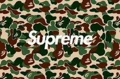 Supreme x Bape wallpaper camo