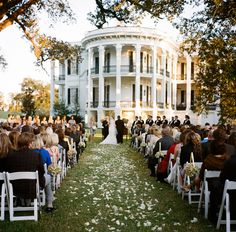 Beautiful plantation wedding.