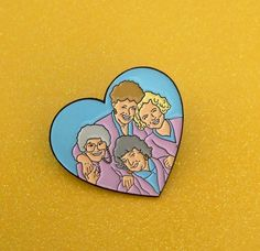 Golden Girls enamel pin heart lapel pinback by HondoSupplyCo