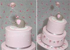 Baby Elephant Cake - pink