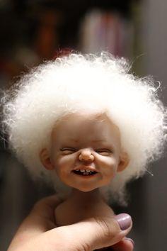 Ooak Dolls, Blythe Dolls, Elfen Fantasy, Ceramic Sculpture Figurative, Cute Baby Dolls, Cute Love Memes, Baby Fairy, Clay Baby, Polymer Clay Dolls
