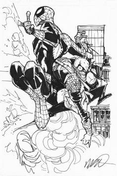 Spider Man & Green Goblin by Humberto Ramos