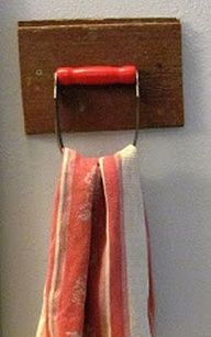 Pastry Blender into a Towel Holder Tutorial  Image Source
