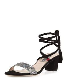 SJP BY SARAH JESSICA PARKER Elope Wrap & Tie Party Sandal, Silver/Black. #sjpbysarahjessicaparker #shoes #sandals
