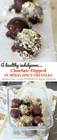 These easy Pumpkin Spice Truffles with Almonds and…