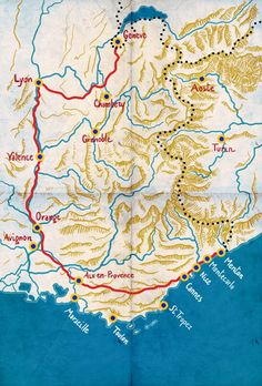 From the charcuterie of Lyon to the Pissa Ladieres of Provence, go on an eating tour across France's most legendary road — Route These photos first appeared in our June/July 2012 issue along with Sylvie Bigar's story The Road to Paradise. France Map, South Of France, France Travel, Camping France, Santa Cruz Camping, Road Routes, Juan Les Pins, Haute Provence, European Vacation