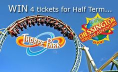 Stagecoach has 4 tickets for both Chessington World of Adventures Resortand Thorpe Park up for grabs for October half term!