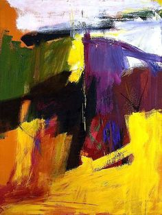 Henry H II - (1959) Franz Kline The bright burst of colour makes the purple really stand out, this painting works very well for me.