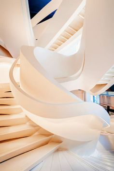 Stairs by Matthias Haker in the Armani 5th Avenue store in New York City (designed by Massimiliano & Doriana Fuksas Architects).
