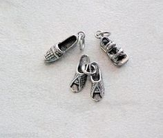 Sterling Silver Fashion Woman's Casual Flats Shoe Charms