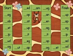 Free Jungle CVC Board Game.  Thanks Deedee!