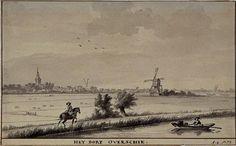 (dverschie vanaf de Rotterdamse Schie, rechts Kleinpolderwipwatermolen. Datering: 1/1/1753-31/12/1753, XXXI 377-1)