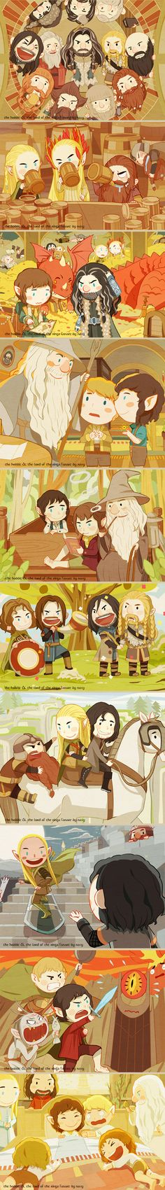 GAHAHA SAURON AND MOUNT DOOM ARE A LITTLE INTIMIDATED... LOL FARAMIR AND BOROMIR MEETING FILI AND KILI THO 😂... Gimli! Thranduil and Legolas what are they even doing