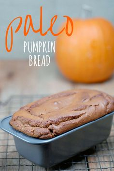 With 8 healthy ingredients this easy Paleo Pumpkin Bread recipe is a cinch to make and absolutely delicious all year round. Made with high-protein almond flour my lusciously moist gluten-free dairy-free pumpkin quick bread came about by popular demand Paleo Pumpkin Recipes, Paleo Pumpkin Bread, Paleo Recipes, Bread Recipes, Pumpkin Pumpkin, Canned Pumpkin, Pudding Recipes, Quick Recipes, Pumpkin Spice