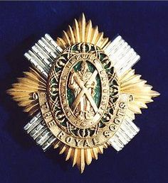 The Royal Scots officers forage cap badge, circa 1878-1909.