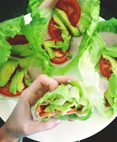 """Can get these at Jimmy Johns, called the """"Unwich"""" Menus Healthy, Healthy Food Choices, Healthy Options, Healthy Habits, Healthy Life, Healthy Snacks, Healthy Eating, Healthy Recipes, I Love Food"""