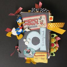 Crafty Polly Mini Album. Disney Album Cover - Scrapjazz.com. Album by Polly McMillan Raymond.