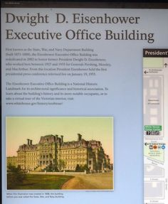 Dwight D. Eisenhower Executive Office Building Marker. Click for full size.