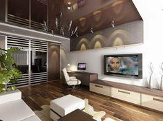 Interior Design, Creative TV Room Design: Interior Contemporary TV Room Design