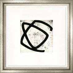 """Pierre Muckensturm 24""""x 24""""  Paper:Arches Rives, pure cotton, neutral ph,  watermarked with vellum surface  Item Code:MKN 1  Frame:624SL - Contemporary silver with small linen slip"""