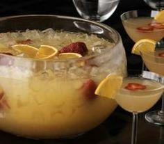 champagne rum peach slush