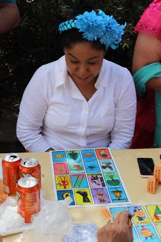 Playing Loteria! (Mexican Bingo) #AmericanHatMakers