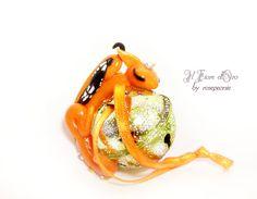 Dragon Ornament. OOAK fantasy miniature made of di ilFioredOro