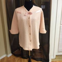 1950's Pink Quilted Bed Jacket  by LisaLaRueRetroActive on Etsy, $21.95