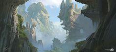 Sacred Mountains, Gabriel Yeganyan on ArtStation at https://www.artstation.com/artwork/nbYgX