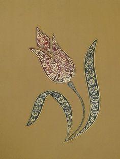 Turkish tulip design with inner ornamentation