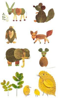 Nature Crafts for Kids - Crafts ideas 💡 Kids Crafts, Projects For Kids, Diy For Kids, Art Projects, Arts And Crafts, Autumn Crafts Kids, Leaf Projects, Autumn Art Ideas For Kids, Diy Autumn