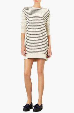 $64.00 Stripe Sweater Dress | Topshop at Nordstrom