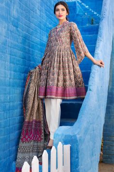 Khaadi –  L17252-A-GREY - Lawn 2 Piece Collection - Unstitched