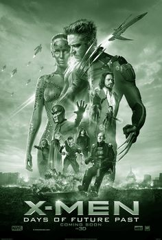 X-MEN, DAYS OF FUTURE PAST:  Amerikaanse superheldenfilm uit 2014 in 2D en 3D, gebaseerd op de verhaallijn Days of Future Past (1981) uit de stripreeks X-Men. De film werd geregisseerd door Bryan Singer, die ook onder meer de eerste twee delen van de X-Men-filmserie regisseerde. X-Men: Days of Future Past vormt daarin de zevende film. Het verhaal speelt zich af in een alternatieve, dystopische toekomst.