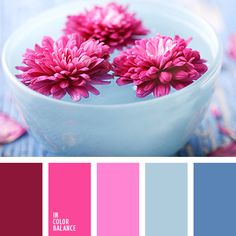 Maiden palette - bright and stylish, but at the same time gentle and dreamy. The harmonious combination of pink and blue and their various shades richness and depth, suitable for creating a romantic and lyrical style, for registration of a bachelorette party and other women's events.