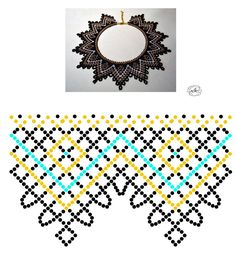 Natali Khovalko   VK Diy Necklace Patterns, Beaded Jewelry Patterns, Beading Patterns Free, Beading Tutorials, Diy Jewelry Projects, Beadwork Designs, Beading Techniques, Bead Jewellery, Handmade Beads