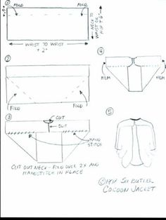 """cocoon jacket pattern 