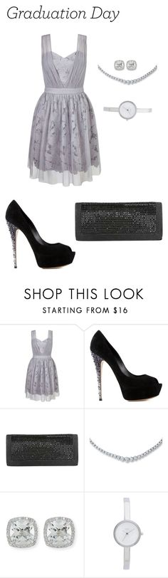 """""""Untitled #2091"""" by nadia-n-pow on Polyvore featuring Miss Selfridge, Casadei, Frederic Sage, DKNY and Graduation"""
