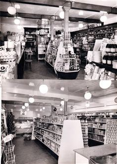 Photo:Schofield and Martin 1958 Pre and Post Self-Service