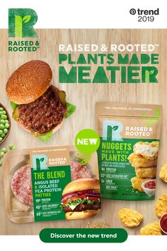 There's a tasty new guest coming to grills and gatherings thanks to Raised & Rooted. Discover delicious plant-based nuggets and try patties made with real Angus beef and plant protein. Tap the Pin for…More Soup Recipes, Whole Food Recipes, Diet Recipes, Vegetarian Recipes, Chicken Recipes, Cooking Recipes, Plant Based Eating, Plant Based Diet, Plant Based Recipes