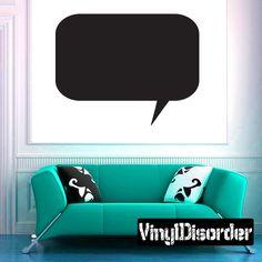 Conversation Bubble Wall Decal - Vinyl Decal - Car Decal - Mv010
