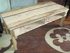 old pallet for display table in booth!