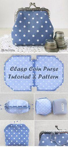 Clasp Coin Purse Tutorial http://www.handmadiya.com/2015/11/clasp-coin-purse-tutorial.html #diyhandbag