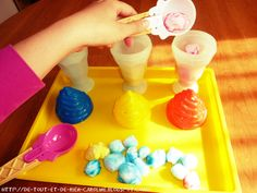 Ice cream, color sorting,  counting. Maths are COOL! And it works as a dry erase board too!