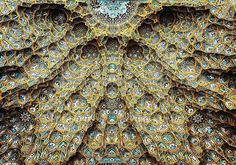 The Tessellated and Elaborately Detailed Ceilings of Iranian Mosques.