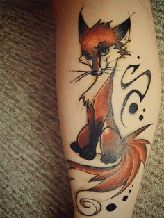 Renard tattoo by FoxInShadow.deviantart.com on @deviantART