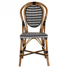 Black & Grey Mediterranean Bistro Chair (PIQ)