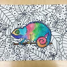 Colorful chameleons! ✨ #artteacher #elementaryart #arteducation #4thgrade Classroom Art Projects, School Art Projects, Art Classroom, Art School, Square One Art, 4th Grade Art, Art Curriculum, Art Programs, Kindergarten Art