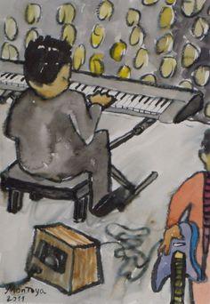 Piano en el escenario. Exposición Museo Arte Moderno de Mazatlán, Sinaloa, México, Noviembre 2011. Juan Montoya López